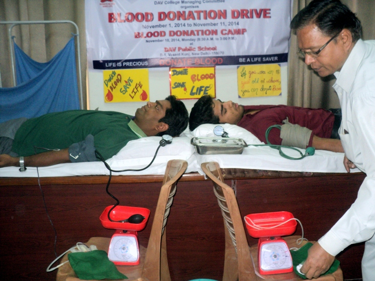 a blood donation camp in my school One among it can be ill health keeping this in view various campus were held in  the school, which was carried out by experts blood donation camp was held on.