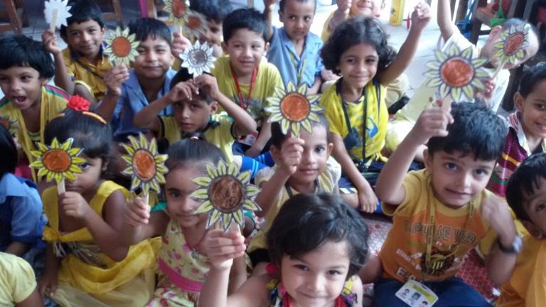 yellow day celebration in preschool world health day celebration 143